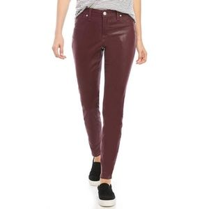 NWT Mid-rise Skinny Coated Jean in Mulberry